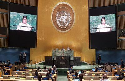 Sushma Swaraj at UNGA: EAM takes on Pakistan for 'breeding terrorism', calls for UNSC reforms