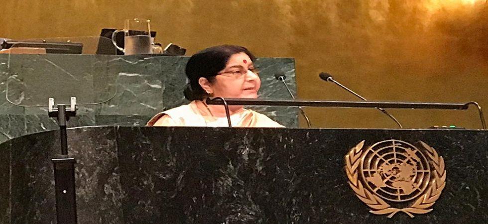 Sushma Swaraj UN General Assembly Speech: Key takeaways (Photo: Twitter/@MEA)