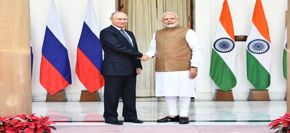 Prime Minister Narendra Modi  and Russian President Vladamir Putin. (MEA)