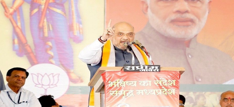 Illegal settlers in India took away jobs of youths: Amit Shah (Photo- Twitter)