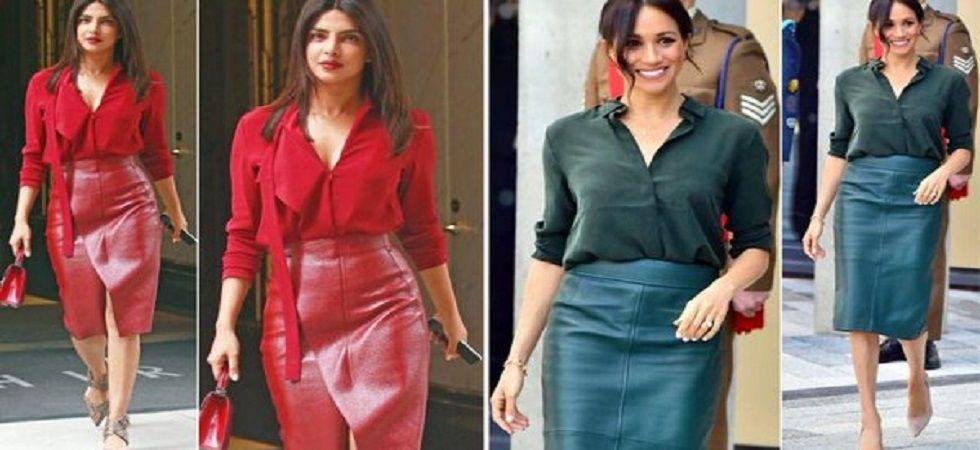 Priyanka Chopra just copied BFF Meghan Markle's Monochrome Style (Photo: Twitter)