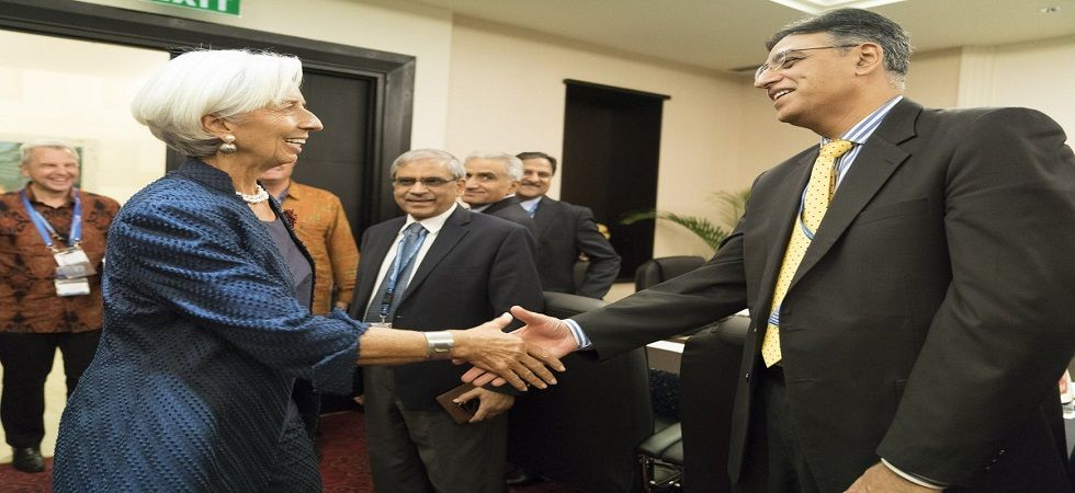 IMF chief, Pakistan FM meet as Islamabad seeks financial assistance for bailout (Photo- Twitter/@IMFNews)