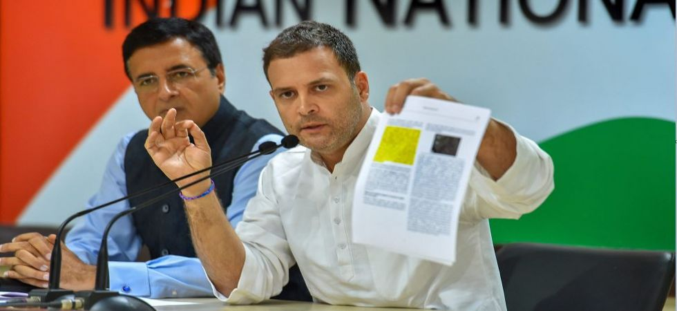 Sitharaman's visit to France 'Great Rafale Cover Up': Rahul Gandhi (Photo Source: PTI)