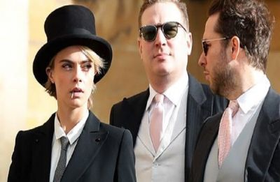 Cara Delevingne is the definition of chic at Princess Eugenie's wedding