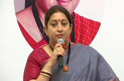 Empower women as tribute to Vijaya Raje Scindia: Smriti Irani