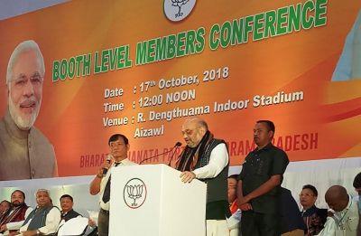 Mizoram: BJP chief Amit Shah kick-offs election campaign in Aizawl