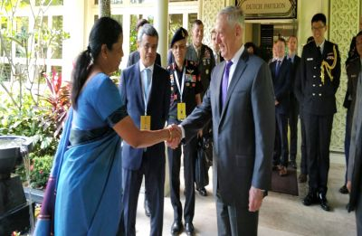 Defence Minister Nirmala Sitharaman meets US counterpart James Mattis on ASEAN meet sidelines