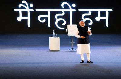 PM Modi in townhall meet with techies: What 'sarkar' can't, 'sanskar' can do