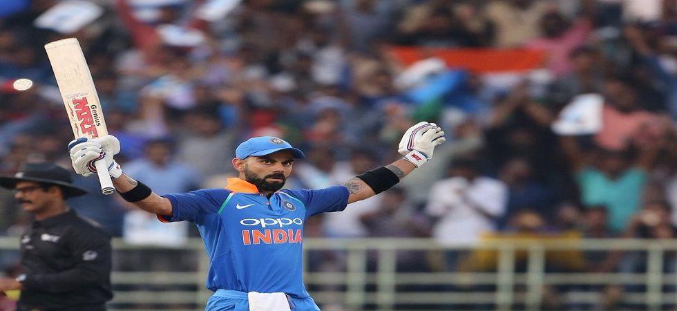 Virat Kohli broke Sachin Tendulkar's record of the fastest to 10,000 runs in ODIs during the Vizag ODI. (Image credit: Twitter)
