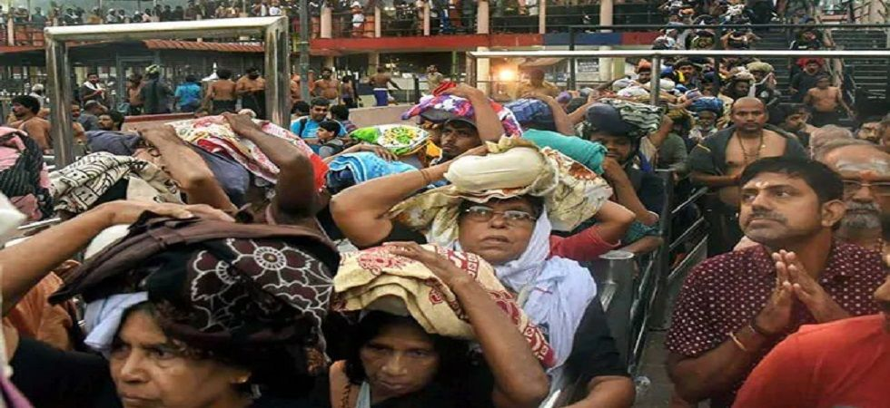 Kerala had witnessed massive protests from devotees at various places, including Sabarimala, Nilakkal and Pamba, against permitting women of all ages to enter the shrine. (Image credit: Twitter)