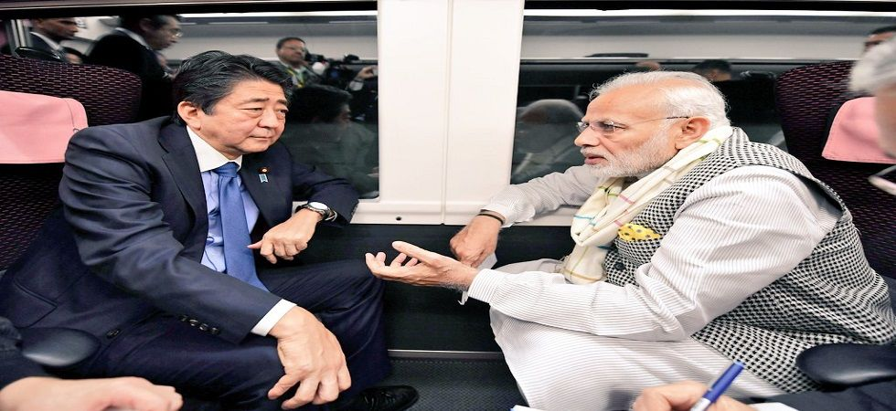 After spending 8 hours together in Yamanashi, PM Modi Japanese PM Abe Shinzo depart for Tokyo by Express Train Kaiji.