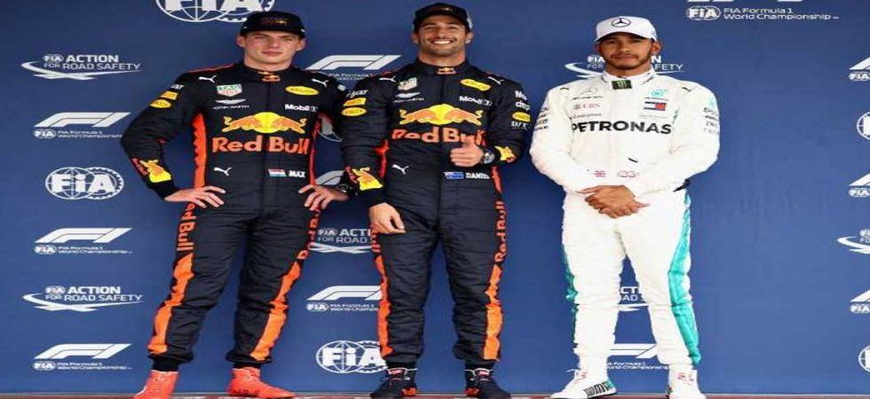 Daniel Ricciardo secured pole position while Lewis Hamilton outpaced Sebastian Vettel in the Mexico Grand Prix. (Image source: Twitter)