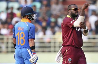 Ashley Nurse says 'Babaji ka Thullu' in presentation after West Indies win