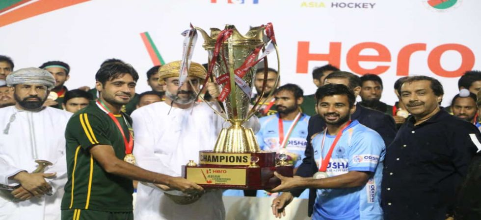 India and Pakistan were declared the joint winners of the Men's Asian Champions Trophy hockey tournament. (Image credit: Pakistan hockey twitter)