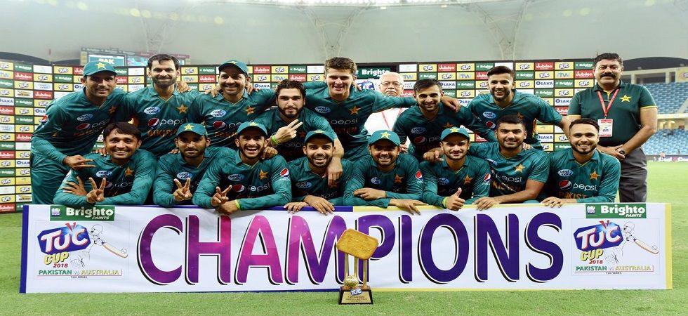 Pakistan whitewashed Australia 3-0 to win their 10th straight bilateral series in Twenty20 internationals. (Image credit: Twitter)