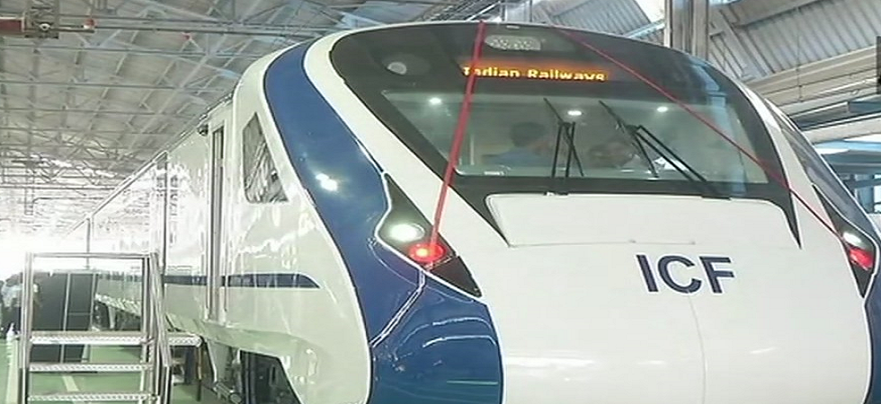 Train 18: India's first engine-less train rolled out. (ANI)