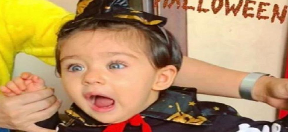 Inaaya Naumi Kemmu is a 'cute witch' in this Halloween costume (Photo: Twitter)