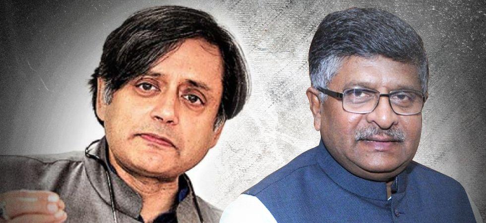 Tharoor sends legal notice to Ravi Shankar Prasad - Read the notice