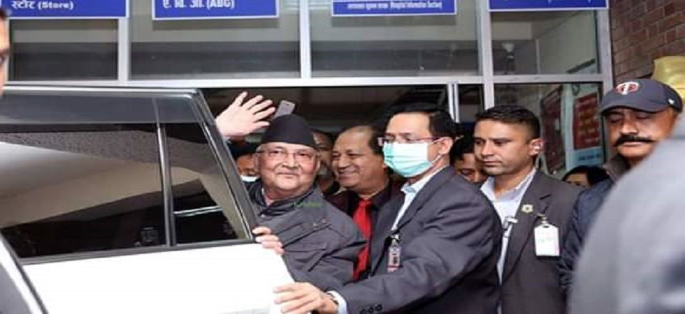 Nepal PM Oli discharged from hospital (Photo- Twitter)