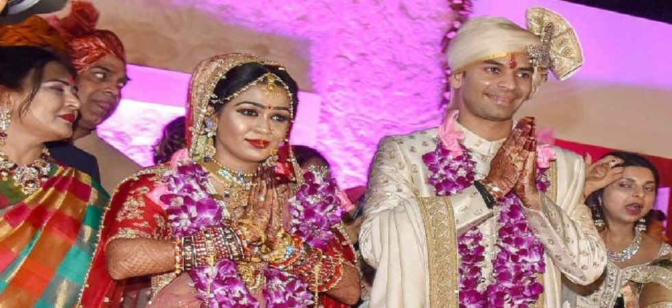 Lalu Prasad Yadav's son Tej Pratap Yadav had married RJD leader Chandrika Rai's daughter Aishwarya Rai in Patna in May