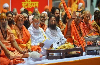 Sri Sri Ravi Shankar at Dharmadesh: Ram Temple is people's wish and it should be fulfilled