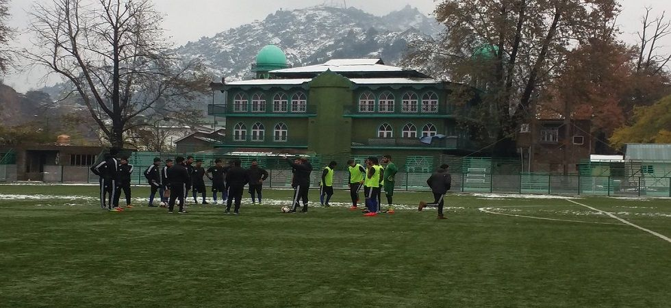 Confident Real Kashmir face Churchill Brothers in first home game (Photo- Twitter/@IndianFootball)
