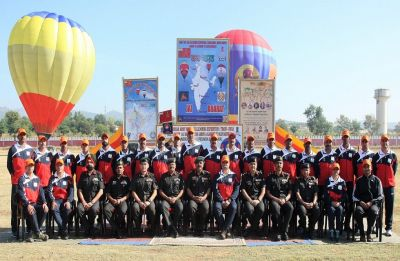 Hot air ballooning expedition covering over 3,000 km distance flagged off from Jammu