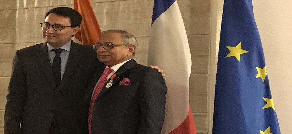 Jawahar Lal Sarin honoured with France's highest civilian honour (Photo- Twitter/@FranceinIndia)