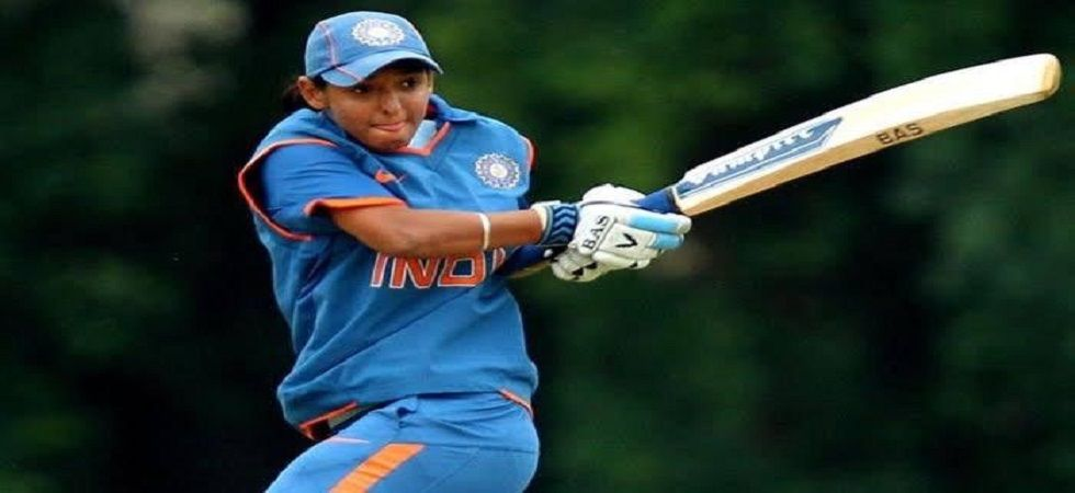 Harmanpreet Kaur struck seven fours and eight sixes in her epic knock that helped India beat New Zealand in the Women's World T20. (Image credit: Suresh Raina Twitter)