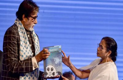 At KIFF, Amitabh Bachchan prompts bouts of laughter; amuses audience with his dynamic Bengali speech