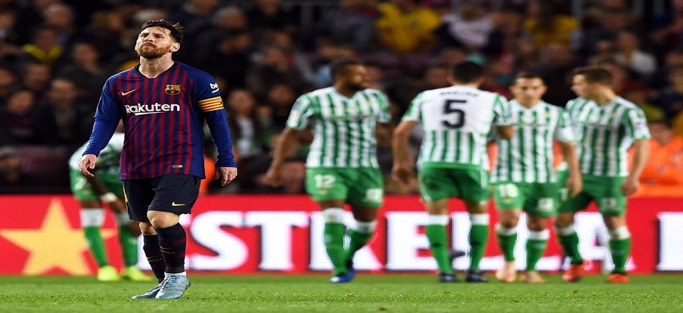 Barcelona lost a game for the first time at home since two years despite Lionel Messi scoring two goals. (Image credit: Opta Twitter)