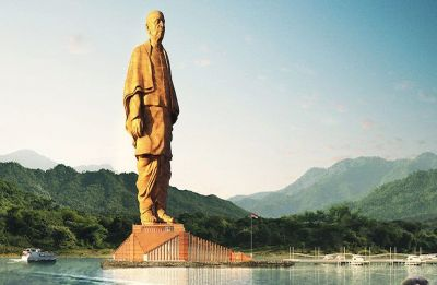 Statue of Unity's aerial view from space looks stunning