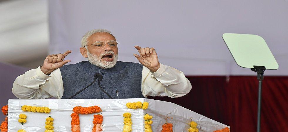 Prime Minister Narendra Modi inaugurates Western Peripheral Expressway, flags off Metro's Escorts Mujesar-Ballabgarh section (Photo- PTI)