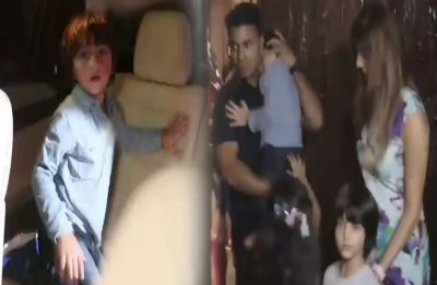Shah Rukh Khan's little fella Abram yells at the paparazzi, Video goes VIRAL