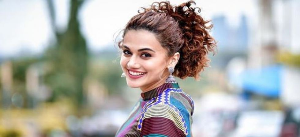 Taapsee Pannu shares a sneak-peak from her upcoming flick Mission Mangal (Instagrammed photo)