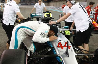 Lewis Hamilton, five-time world champion, secures pole position for season-ending Abu Dhabi Grand Prix
