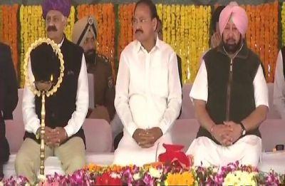 Kartarpur Corridor: Vice President Venkaiah Naidu lays foundation stone in Gurdaspur's Mann village