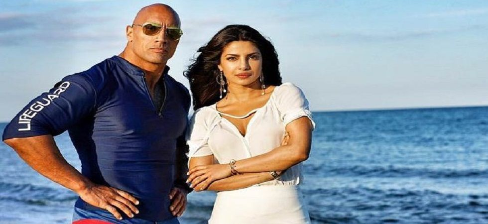 Baywatch co-star, Dwayne Johnson likely to be among the guest list at Nickyanka's wedding (Photo: Twitter)