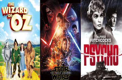 The Wizard of Oz, Star Wars, Psycho are most influential films of all time
