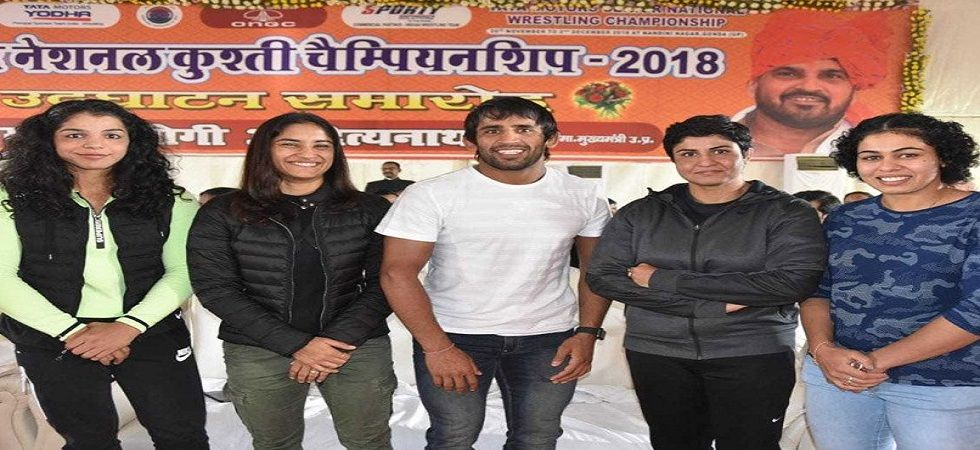 Bajrang Punia and Vinesh Phogat, who won Commonwealth Games and Asian Games gold medals, were included in the top Rs 30-lakh Grade A contract. (Image credit: Twitter)