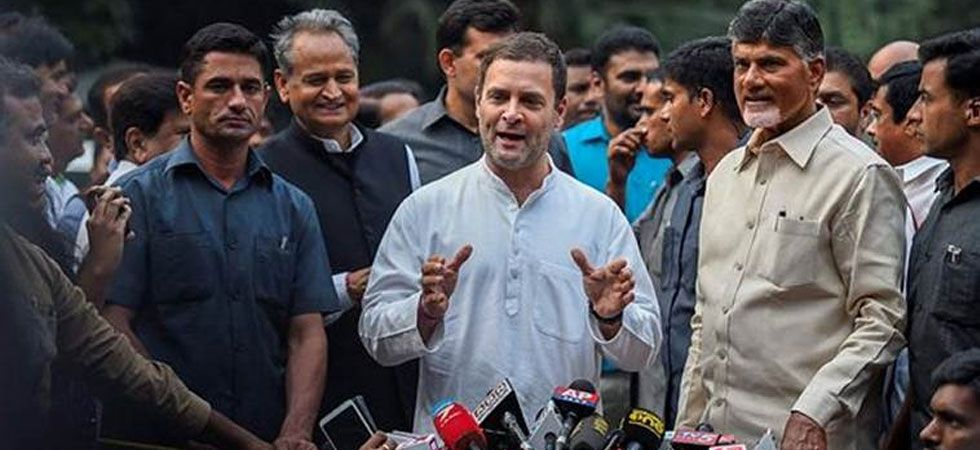 Congress president Rahul Gandhi and TDP chief Chandrababu Naidu (PTI Photo)