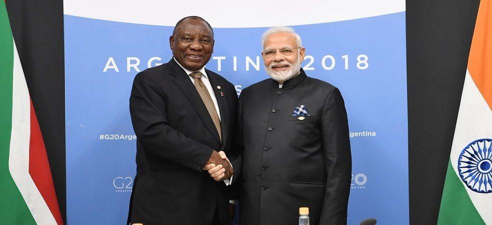 South African Prez Ramaphosa accepts Modi's invitation to Republic Day (Photo tweeted by Narendra Modi - @narendramodi)