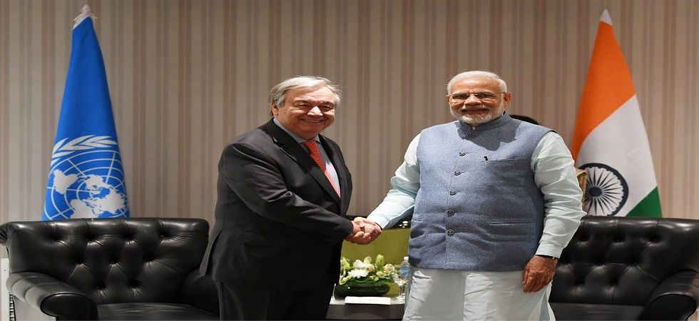India to support Paris Climate Change Agreement, assures PM Modi to UN chief (Photo- Twitter)