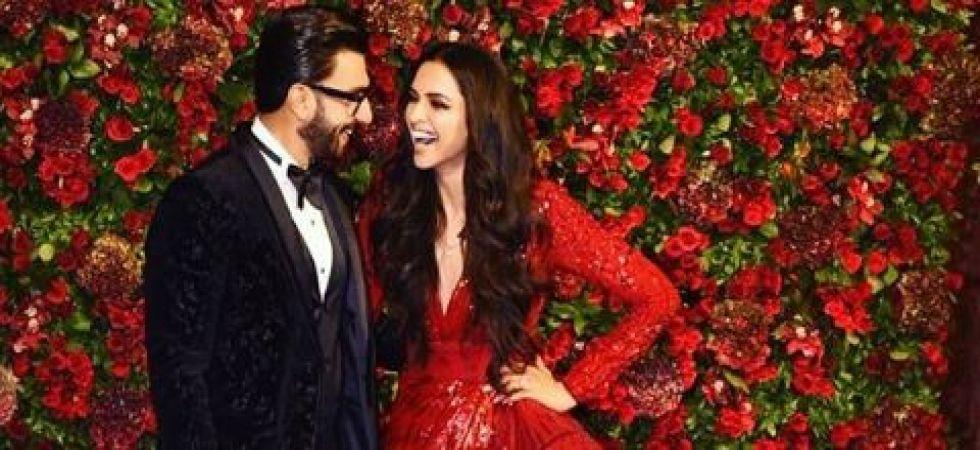 Deepika Padukone and Ranveer Singh look mesmerising in red and black (Instagrammed photo)
