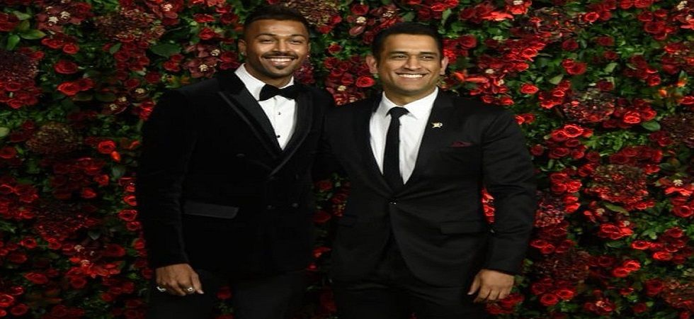 MS Dhoni and Hardik Pandya were in attendance for the reception of Deepika Padukone and Ranveer Singh in Mumbai. (Image credit: Twitter)