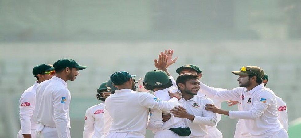 Mehidy Hasan picked up the best figures by a Bangladesh bowler in Tests as they swept the West Indies in the two-Test series. (Image credit: Twitter)