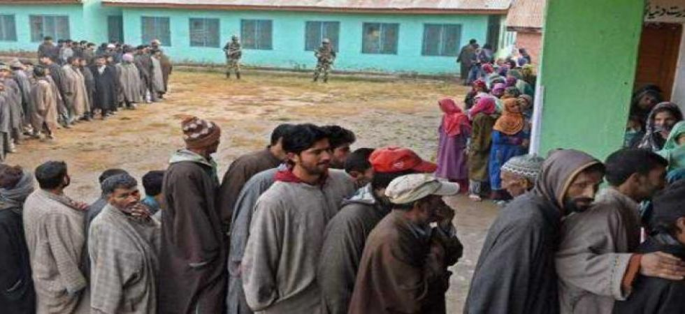 Jammu and Kashmir witnesses 76.9 pc voting in sixth phase of panchayat polls (PTI photo)