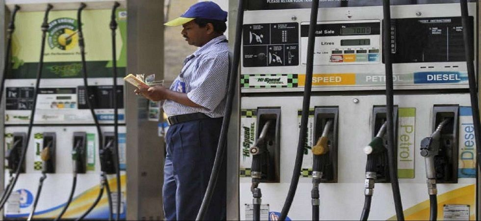 Petrol was pegged at Rs 72.23 a litre, while diesel was being sold at Rs 67.02 in Delhi