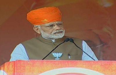 PM Modi hits out at Congress president Rahul Gandhi over his 'Bharat Mata Ki Jai' jibe