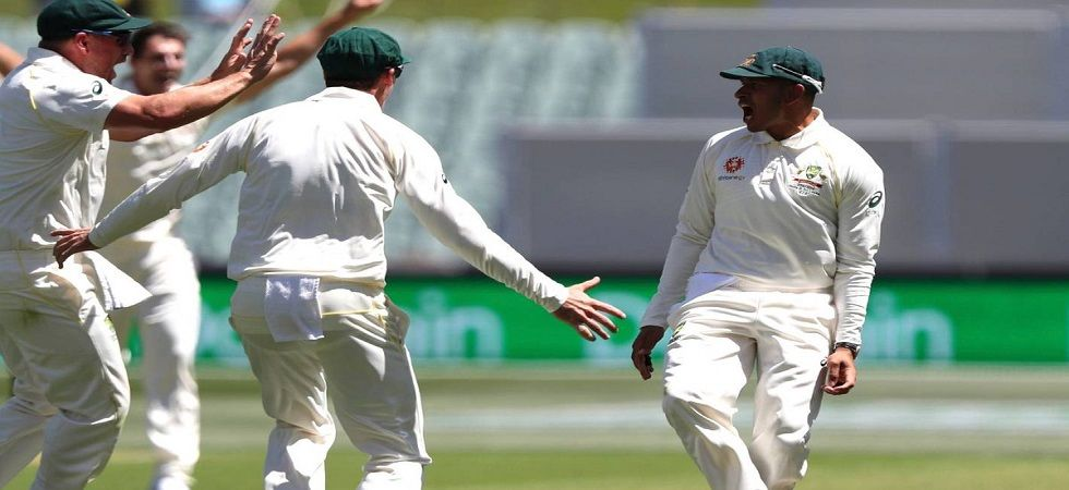 Usman Khawaja took a brilliant catch to dismiss Virat Kohli cheaply in the Adelaide Test. (Image credit: Twitter)